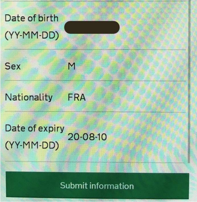 screenshot showing data displayed backward as YY-MM-DD