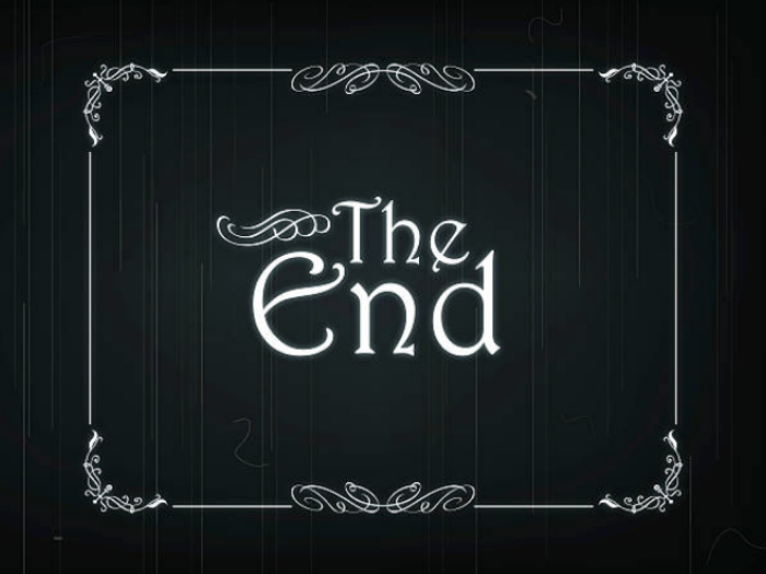 screenshot of an old movie stating: The End