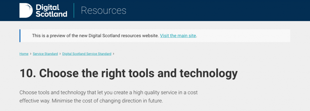 point 10: chose the right tools and technology