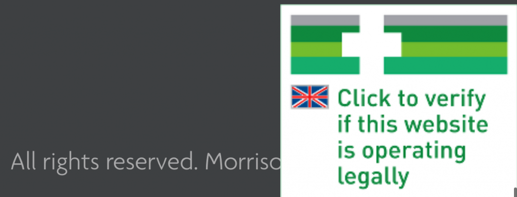 an image with text and a union jack flag is very pixelated
