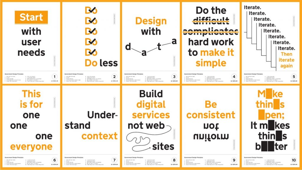 collage of the 10 Government Design Principles